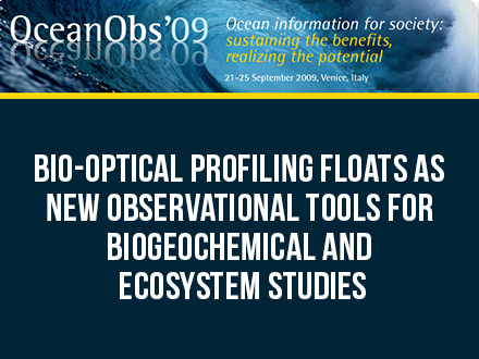 Bio-optical profiling floats as new observational tools for biogeochemical and ecosystem studies
