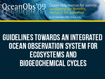 Guidelines Towards an Integrated Ocean Observation System for Ecosystems and Biogeochemical Cycles