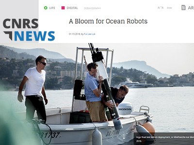 Web article: CNRS News (01.15.2018) A Bloom for Ocean Robots